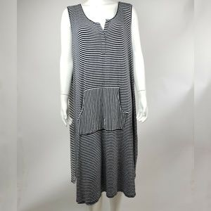 LB ACTIVE LANE BRYANT Striped Dress 26/28